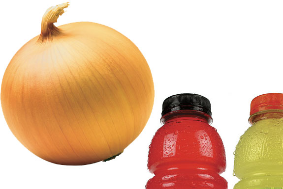 How To Charge an iPod with an Onion, Sports Drink
