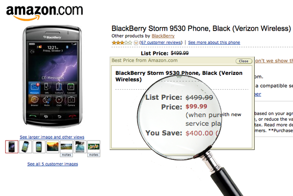 BlackBerry Storm at a Discount