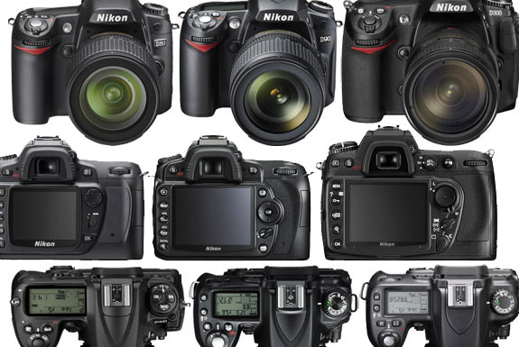 Nikon D80 vs D90 vs D300