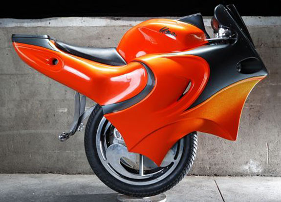transportation motorcycles bicycles concept  Two Cool Motor(uni)cycles