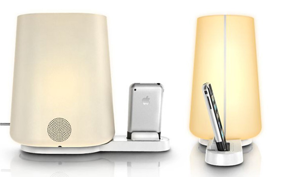 speaker ipod clock radios  A Better, Gentler iPod Lamp & Alarm Clock