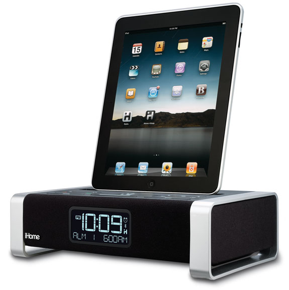 ipod clock radios iphone apple ipad ces  Just In Case, iHomes New Speaker Dock