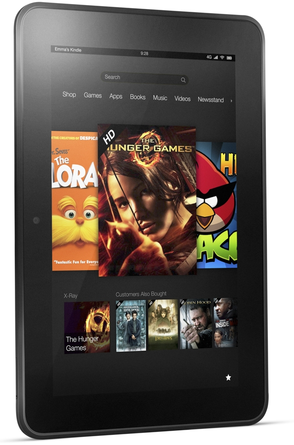 tablet computers kindle e book reader amazon  The Amazon Kindle Fire HD Tablets